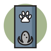 Dog Leash holder shop icon